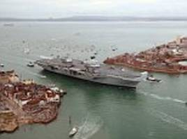 hms queen elizabeth to reach portsmouth this morning
