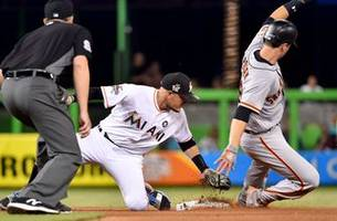 Giancarlo Stanton's HR barrage continues but Marlins fall to Giants
