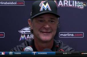 marlins' don mattingly on the end of giancarlo stanton's hr streak