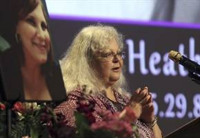 Charlottesville victim Heather Heyer's mother urges 'righteous action'