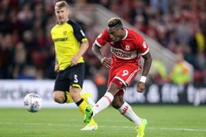 britt assombalonga was super striker for nottingham forest but i'm not sure he will get a good reception on city ground return