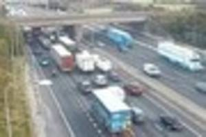 accident on m25 anticlockwise near junction 28 for brook street...