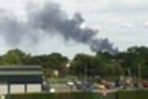 Large fire in Colchester after plume of smoke is spotted
