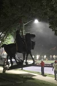 statue of supreme court justice removed along with confederate monuments in baltimore in overnight operation
