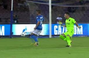 Dries Mertens gets the opening goal for Napoli vs. Nice | 2017-18 UEFA Champions League Highlights