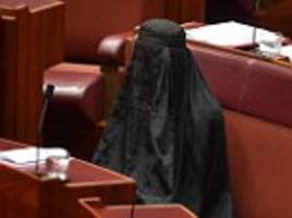 Pauline Hanson shocks Senate wearing Islamic burqa