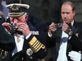 princes charles and william make a rare joint appearance