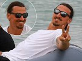 Zlatan Ibrahimovic relaxes in St Tropez with boat trip
