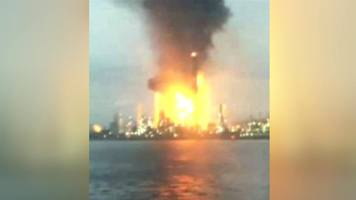 fire at petrochina oil refinery