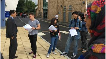 grenfell tower pupils enjoy 'good day' as they collect exam results