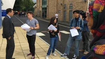 grenfell students staying positive on exam results day