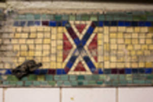 Subway Tiles Resembling The Confederate Flag Remain At Times Square Station, For Now