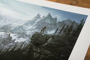 explore the wilds of skyrim in these slick new art prints