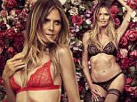 heidi klum, 44, sets pulses racing as she sizzles in lace