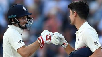 Pint-sized TMS: Alastair Cook & Joe Root hit centuries for England v West Indies