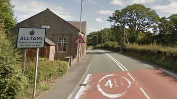 woman hurt after two-car crash at alltami, near mold