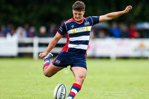 callum sheedy battling for the number 10 shirt at bristol rugby