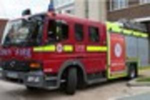 firefighters spend three hours tackling fire in south croydon...