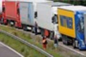 Police on the M20 stunned to find a lorry driver still alive...