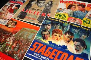 These classic Hollywood movie posters were discovered by builders - under the carpets of a Cardiff cinema owner