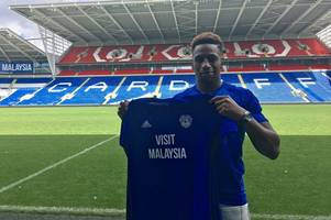 cardiff city announce capture of wigan striker omar bogle on three-year deal