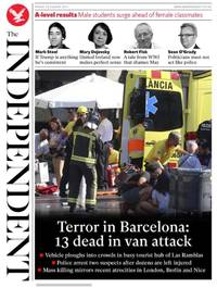 Barcelona terror: the front pages
