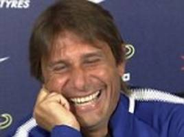 antonio conte laughs hysterically at diego costa claim