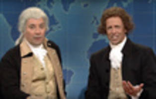 Video: Washington & Jefferson Defend Themselves From Trump On SNL's Weekend Update