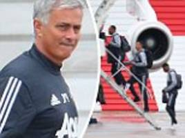 manchester united fly to wales ahead of swansea game