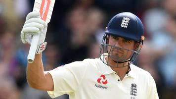 England v West Indies: Alastair Cook's 243 puts hosts in control of first Test