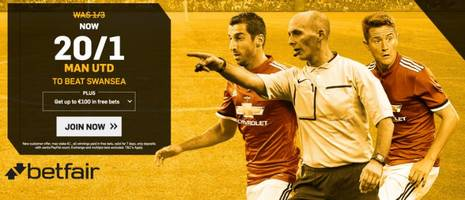 Swansea v Man United: 20/1 enhanced odds, kick-off time, prediction and betting tips