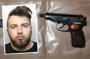 fully loaded gun, ammunition, cocaine and cannabis found at sinfin drug dealer's home