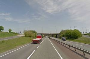 delays on a46 in leicestershire after two-car crash