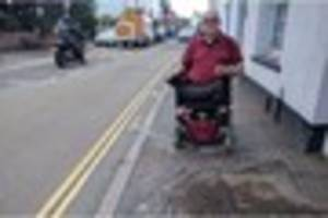 Disabled pensioner hits out at council over Topsham pothole