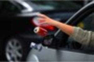 woman who threw bottle from car window and two who dropped...