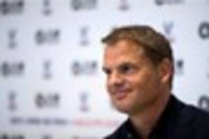 Frank de Boer press conference live: Crystal Palace boss speaks...