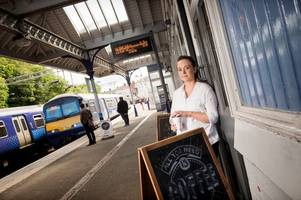 coatbridge businesswoman on track for success with new train station cafe
