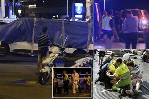 Terror in Spain overnight as five jihadists wearing fake suicide belts launch SECOND attack hours after Barcelona van rampage killed 13