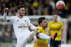 swansea city midfielder matt grimes joins northampton town on season-long loan deal