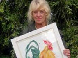 artist wants £10k after seeing her painting in broadchurch