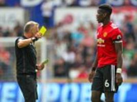 manchester united ace paul pogba laughs off red card talk
