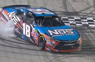 kyle busch charges from the back to win at bristol   2017 nascar xfinity series