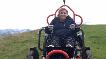 how to get up mountains in a wheelchair