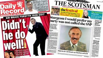 Scotland's papers: 'Didn't he do well'