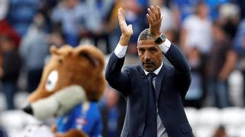 leicester 2-0 brighton: chris hughton rues detrimental timing of leicester goals