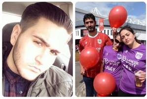 family and friends release balloons in memory of bristol teen george zographou, who died from meningitis