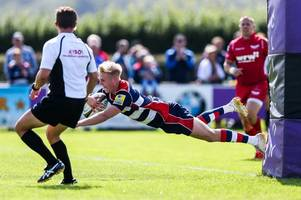 bristol rugby denied first pre-season victory by late scarlets try