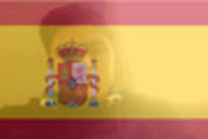 How do I overlay my Facebook profile picture with a Spanish flag?