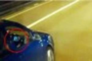 M5 driver caught on camera watching a movie at the wheel