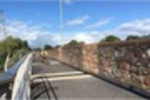 First look at new suspended footway and cycle path alongside...